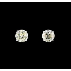 14KT White Gold 2.26ctw Diamond Earrings