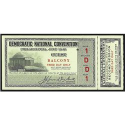 July 1948 Democratic National Convention Philadelphia Ticket