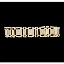 14KT Yellow and White Gold Men's Bracelet