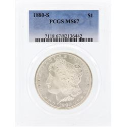 1880-S $1 Morgan Silver Dollar Coin PCGS MS67