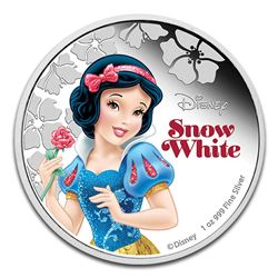 2015 $2 Disney Princess Snow White .999 Fine Silver Proof Coin