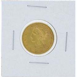 1885-S $5 Liberty Head Half Eagle Gold Coin