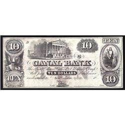 1800s $10 Canal Bank of New Orleans Obsolete Bank Note