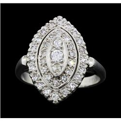 Platinum 0.64ctw Diamond Ring