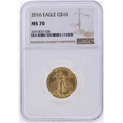 2016 $10 American Gold Eagle Coin NGC Graded MS70