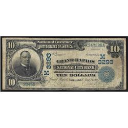 1902 $10 Grand Rapids Michigan National City Bank Note