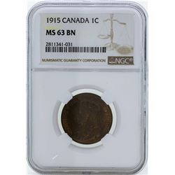 1915 Canada Large Cent Coin NGC MS63BN