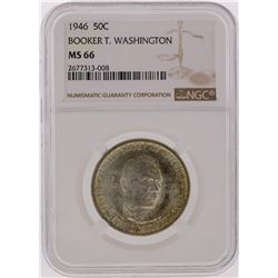 1946 Half Dollar Booker T Washington Commemorative Coin NGC Graded MS66