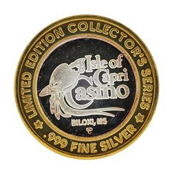 .999 Fine Silver Isle of Capri Casino Biloxi, MS $10 Limted Edition Gaming Token
