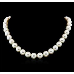 14KT White Gold 9mm South Sea Cultured Pearl Necklace