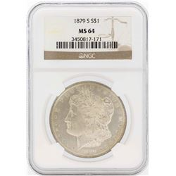 1879-S $1 Morgan Silver Dollar Coin NGC MS64