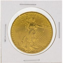 1908 $20 Saint Gaudens Double Eagle Gold Coin