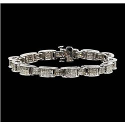 14KT White Gold 6.67ctw Diamond Bracelet