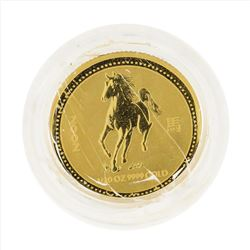 2002 $5 Australia 1/20 oz Lunar Year of the Horse Gold Coin