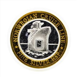 .999 Silver Norwegian Cruise Line $10 Casino Gaming Token Limited Edition