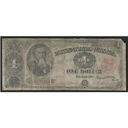 1891 $1 Treasury Coin Note