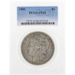 1901 $1 Morgan Silver Dollar Coin PCGS VF25