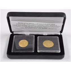 Medals of San Remo Ancient Seals 1978- 2 Gold Coin