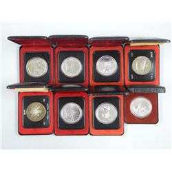 8x Canada Cased Silver Dollars, Mix Years (ATTN: 8