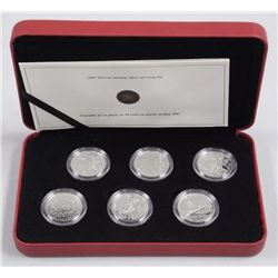 2005 - RCM 50 Cent Sterling Silver 6 Coin Set with
