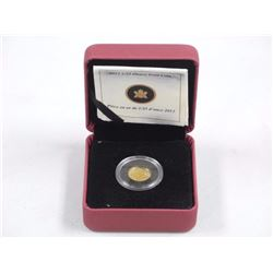 2012 - .9999 Pure Gold Maple Leaf Coin with C.O.A.