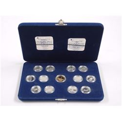 Canada 125-925 Sterling Silver 25 Cents Set Case (