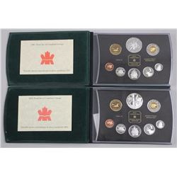2x Estate - Proof 1998 and 2002. 8 Coin Mint Sets,