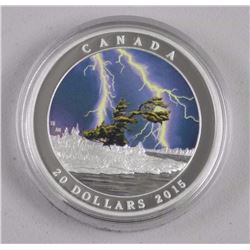 RCM - $20.00 .9999 Fine Silver Summer Storm with L
