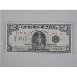 Dominion of Canada - Large Format Two Dollar Note.