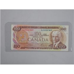 Bank of Canada 1975 - One Hundred Dollar Note. AJX