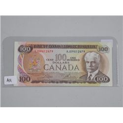 Bank of Canada 1975 One Hundred Dollar Note (AU) (