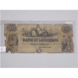 Bank of Louisiana 1862 - US Fifty Dollar Note (G)