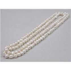 "Ladies 26"" Strand Pearls Double Knotted, Hand Str"