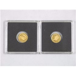 2x .999 Pure Gold Bullion Collector Coins (ATTN: 2