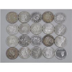 20x Canada Silver Dollars - Tube - Mix of Dates