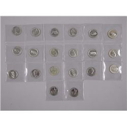 20x 1967 Specimen 25 Cent Coins (ATTN: 20 Times th