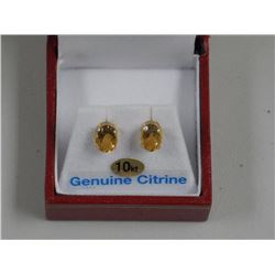 Ladies 10kt Yellow Gold Earrings. 2 Prong, Oval ci