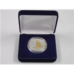 2012 - Canada 9999 Fine Silver 24kt Gold Plated on