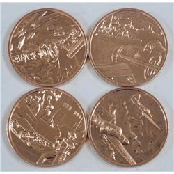 4x Solid Copper Coins. Estate. D-DAY (ATTN: 4 Time