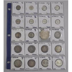 20x Mixed Coins with Silver Also Note. 1950s-1960s