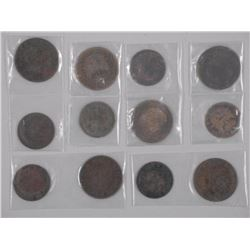 6x Haiti - 1 and 2 Centimes (1886-1894) Bronze Coi