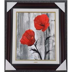 Alicia Soave - Studio Panel 'Urban Poppies II' Gal