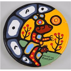 Christian Morrisseau Original Acrylic on 'Deer hid