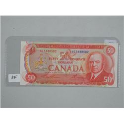 Bank of Canada 1975 - Fifty Dollar Note (EF)