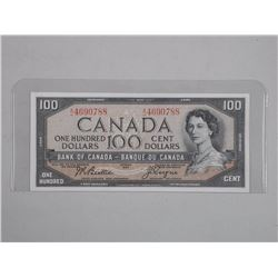 Bank of Canada One Hundred Dollar Note Modified Po
