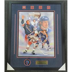 Wayne Gretzky - The Great One Canvas Art and Signe