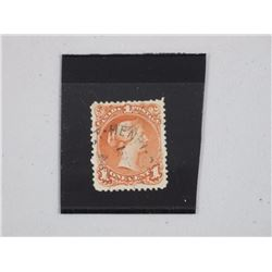 Canada Post - 1868 1 Cent Red Brown Stamp, VF, Use