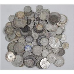 150x World Silver Coins - 451 grams. Approx Mixed