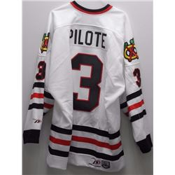 Pierre Pilote - Chicago Jersey - Hall of Fame 1975