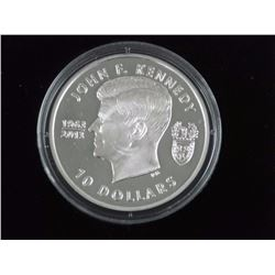 JFK Proof 925 Silver Coin $10.00 with Cert. LE.